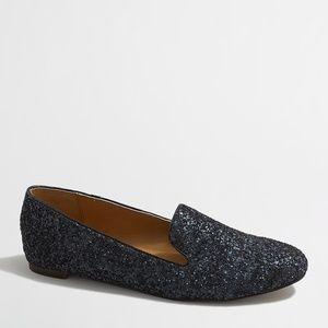 J. Crew 'Addie' navy glitter loafers